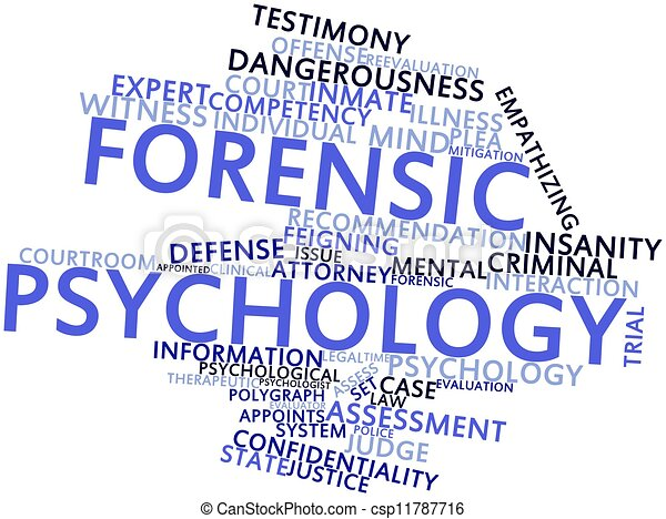 Abstract Word Cloud For Forensic Psychology With Related Tags And Terms
