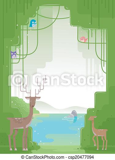 Forest Animals Background - csp20477094