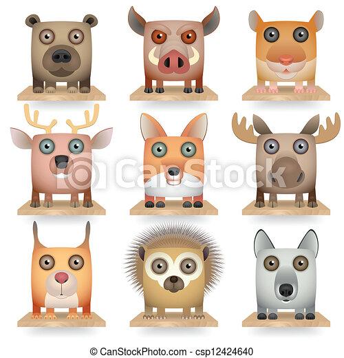 Forest Animals - csp12424640