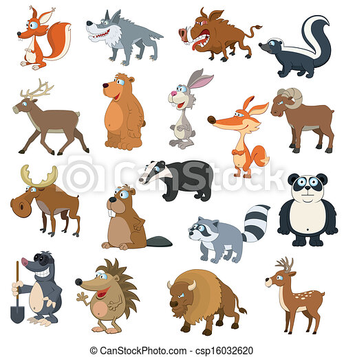 Forest animals set - csp16032620