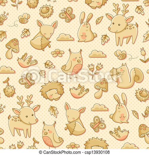 forest animals - csp13930108