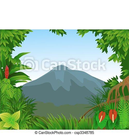 Forest background - csp3348785