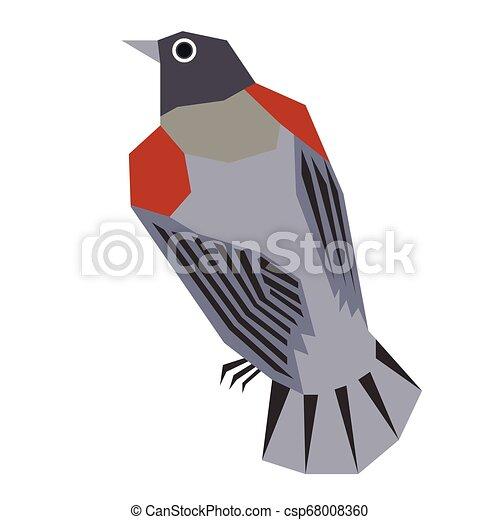 forest bird flat illustration - csp68008360