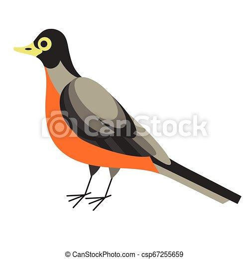 forest bird flat illustration - csp67255659