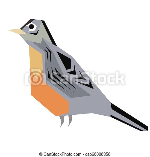 forest bird flat illustration - csp68008358