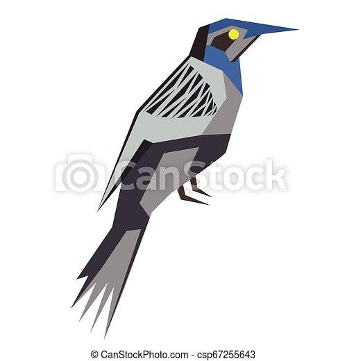 forest bird flat illustration - csp67255643