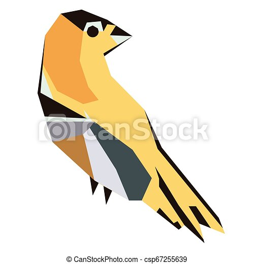 forest bird flat illustration - csp67255639