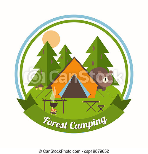 camping clip art and stock illustrations 46 292 camping eps rh canstockphoto com free camping clipart black and white free camping clipart for kids