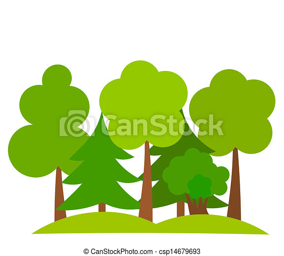 various trees in forest vector illustration eps vectors search rh canstockphoto com forest clipart background forest clip art background