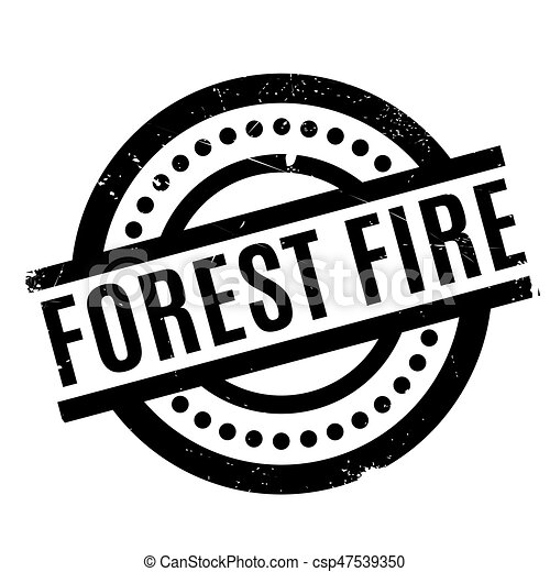 Forest Fire rubber stamp - csp47539350
