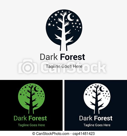 forest logo silhouette of forest trees logo