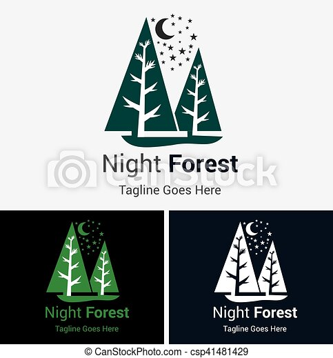 forest logo forest tree logo silhouette isolated vector illustration
