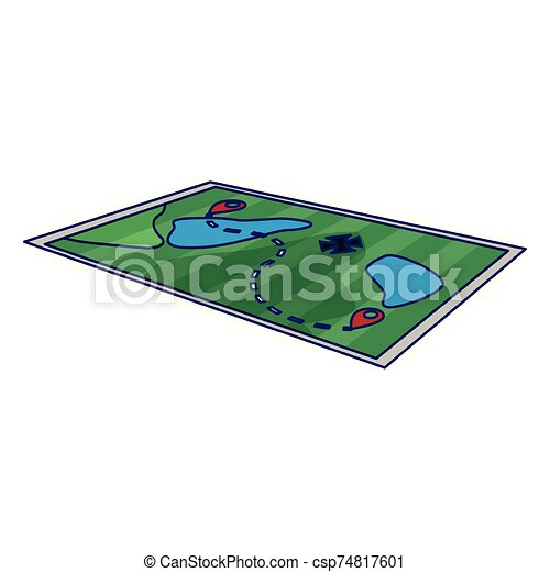forest map icon, colorful design - csp74817601