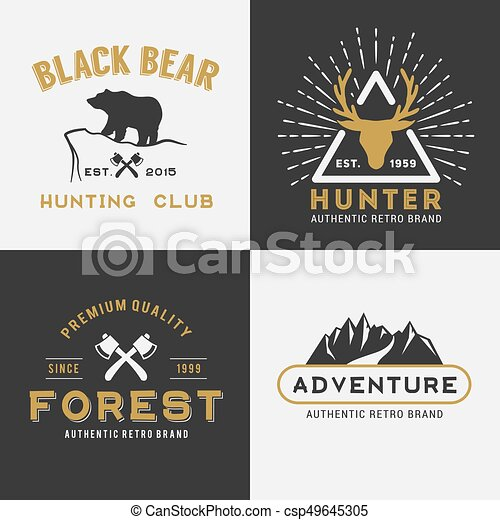 Forest Mountain Adventure Logo Insignia - csp49645305