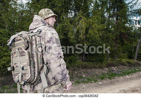 Forest Ranger at Work - csp36426342