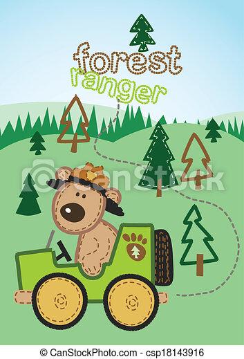 Forest ranger. - csp18143916