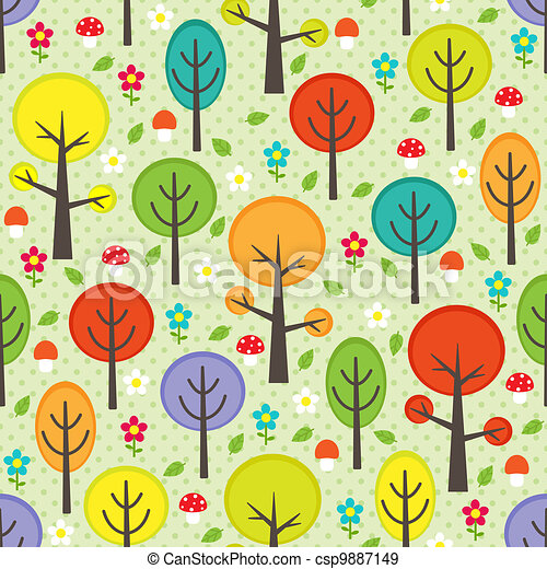Forest seamless background - csp9887149