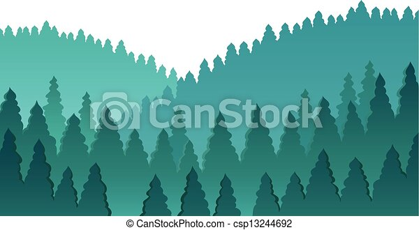 Forest theme image 1 - csp13244692