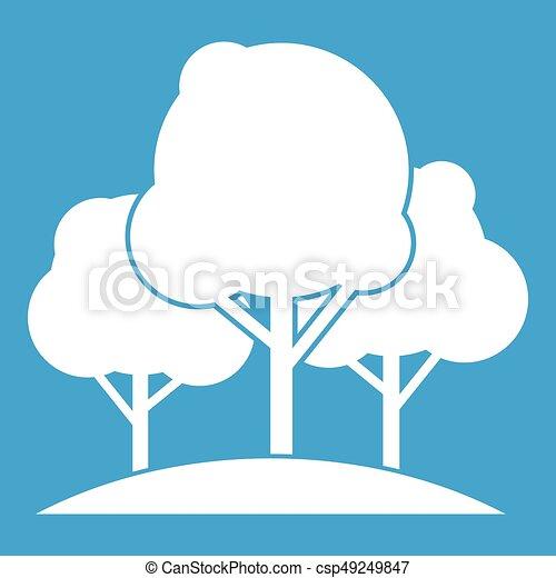 Forest trees icon white - csp49249847