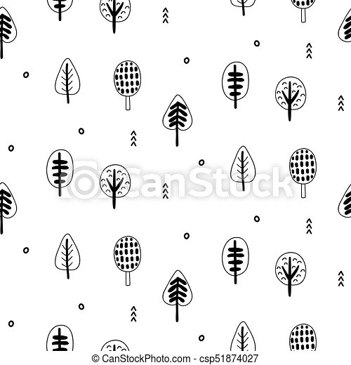 Forest trees scandinavian seamless pattern for wallpaper invitation forest trees scandinavian seamless pattern for wallpaper invitation card scrapbook wrapping paper website background fashion textile print stopboris Image collections
