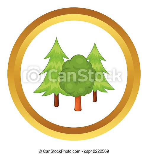 Forest trees vector icon - csp42222569