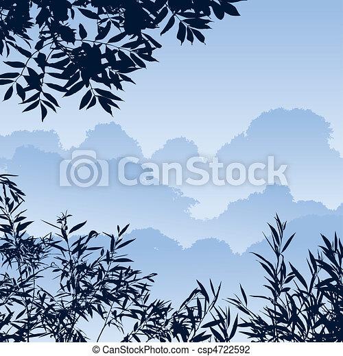 foresta, paesaggio - csp4722592