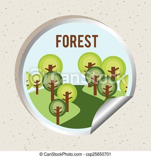 foresta, paesaggio - csp25650701