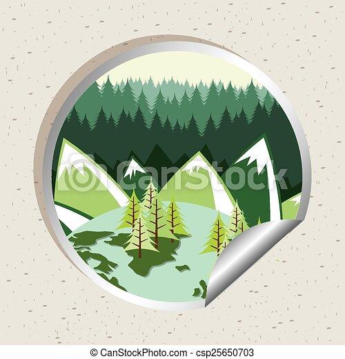 foresta, paesaggio - csp25650703