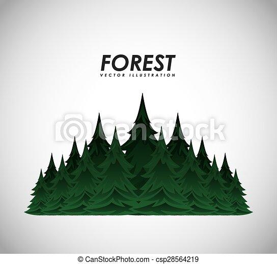foresta, paesaggio - csp28564219