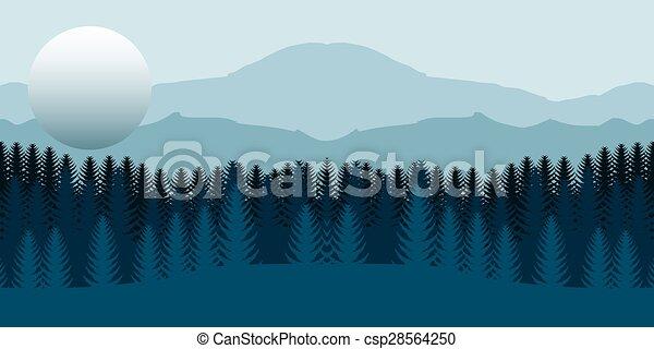 foresta, paesaggio - csp28564250