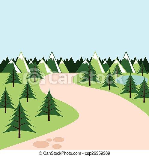 foresta, paesaggio - csp26359389