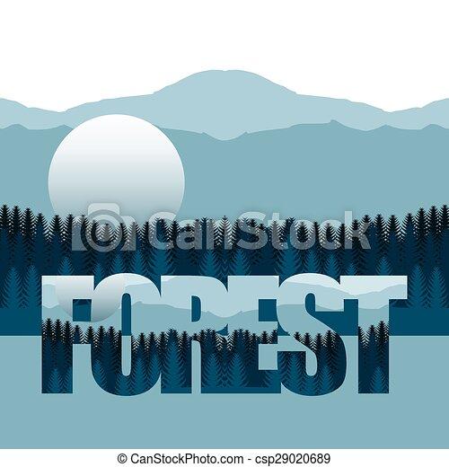 foresta, paesaggio - csp29020689