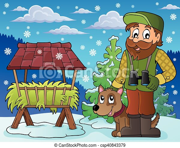 Forester winter theme - csp40843379