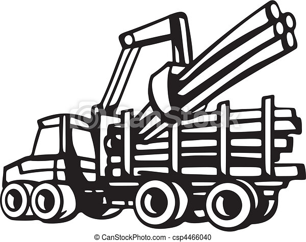Forestry Vechicles Vector Clipart Search Illustration