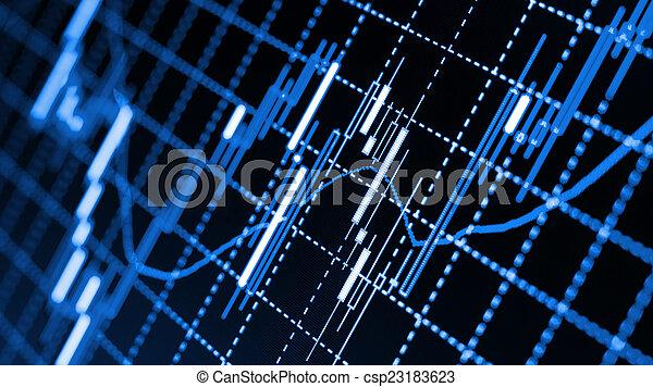 forex, diagrammen - csp23183623