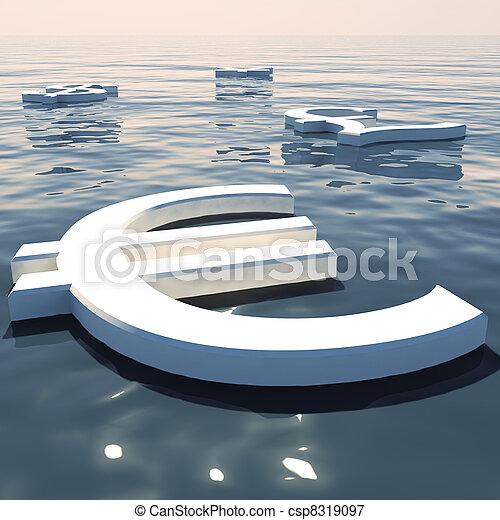 forex, scambio, soldi, lontano, valute, andare, galleggiante, esposizione, euro - csp8319097
