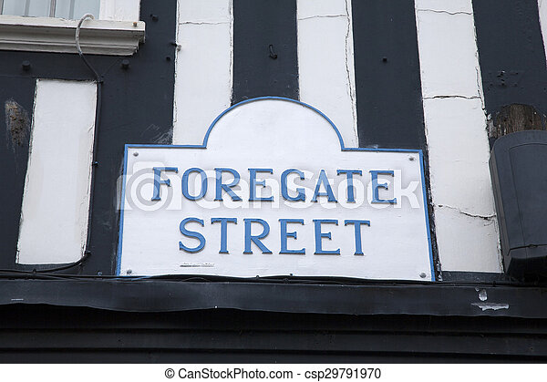 Forgate Street Sign, Chester - csp29791970