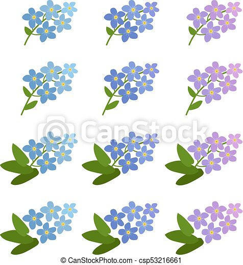 Forget Me Not Clip Art