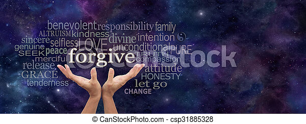 Forgiveness is in your hands - csp31885328