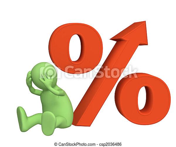 forhøje, krediter, kurs, interesse, under - csp2036486