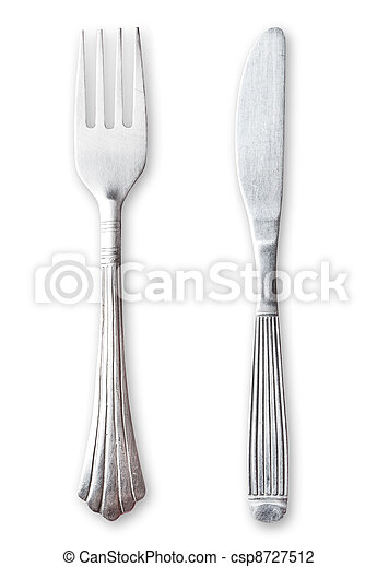 Fork and knife. Clipping path. - csp8727512
