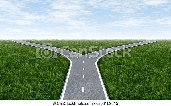 Fork in the road - csp8169815
