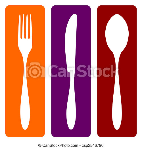 Fork, knife and spoon  - csp2546790