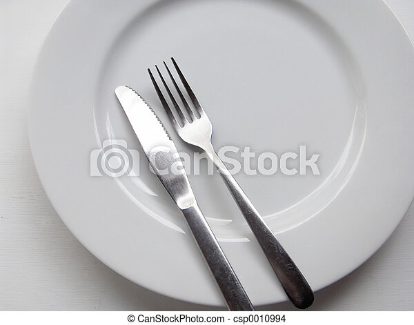 Fork Knife Plate - csp0010994