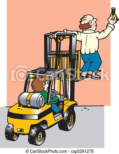 fork lift misuse - csp5291278
