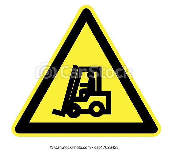 Fork Lift Trucks.Yellow Warning - csp17626423