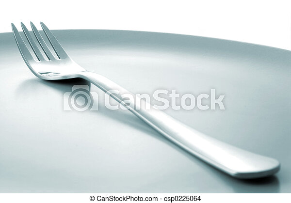 Fork on Plate - csp0225064
