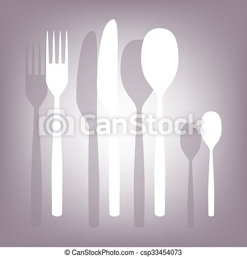 fork spoon knife icon - csp33454073