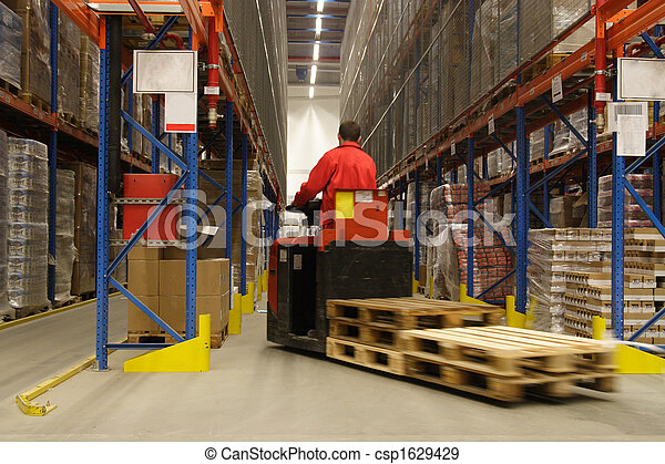 forkift operator in warehouse - csp1629429