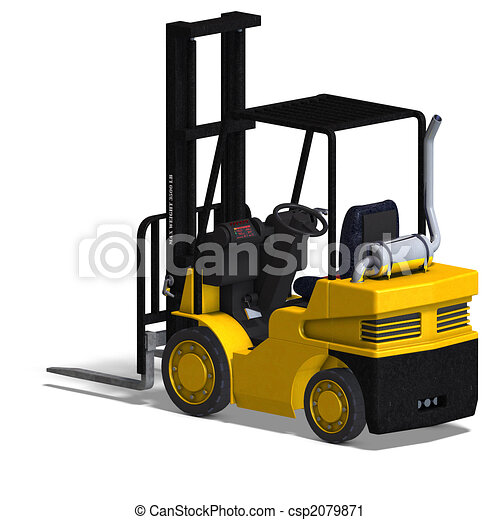 Forklift illustrations and clip art 8415 forklift royalty free forklift rendering of a forklift with clipping path and publicscrutiny Images